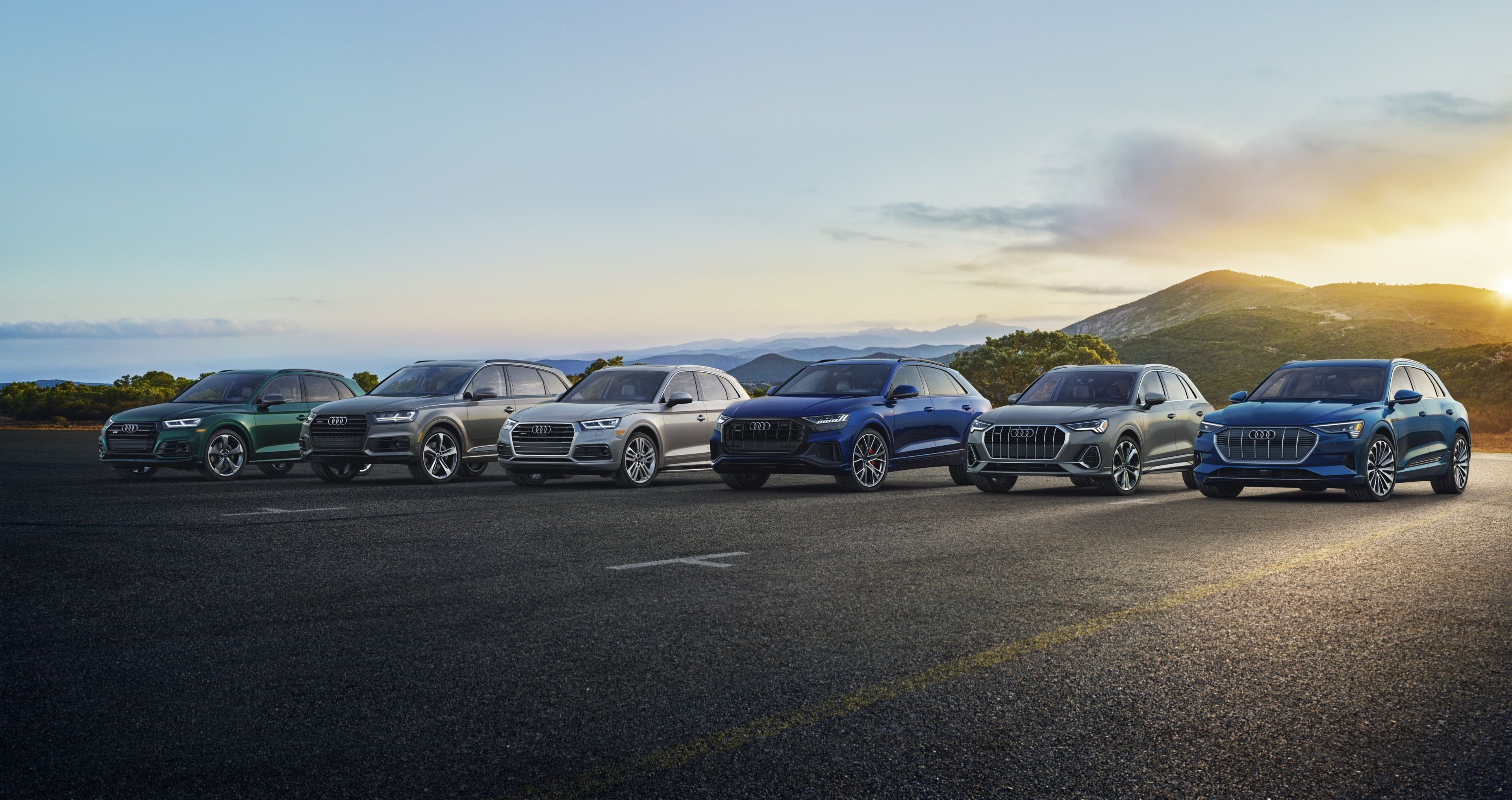 Line up of all the Audi SUVs